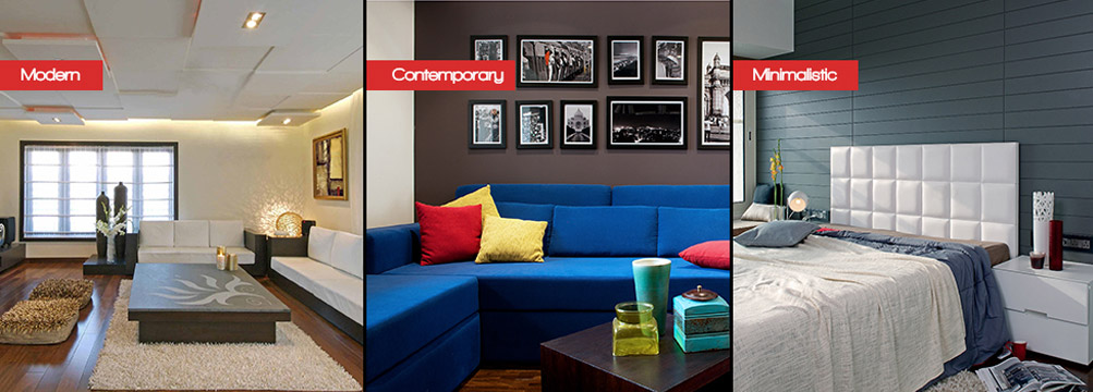 Minimal, Contemporary and Modern. Are they all the same?